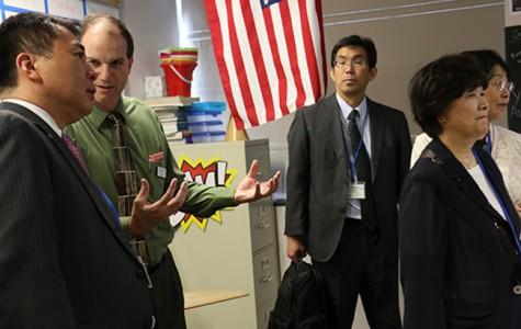 Educators from Japan visit East