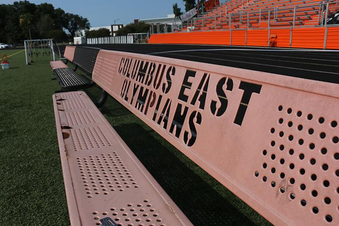 Field preparations are underway for Fridays annual rivalry game between Columbus East and Columbus North.