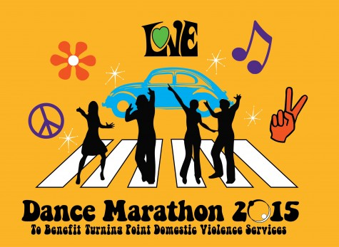 Dance Marathon is a twelve hour event that raises thousands of dollars for Turning Point, a domestic violence shelter.