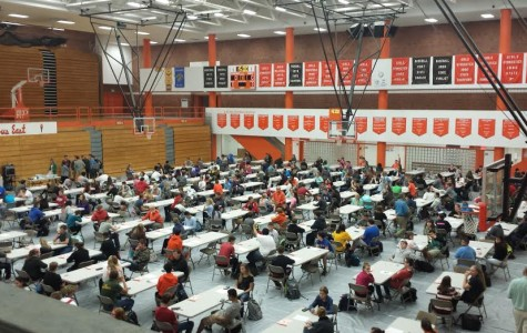 Students take PSAT exam to prepare for future testing