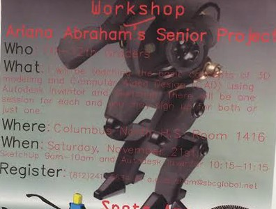 Senior to teach students 3D computer modeling