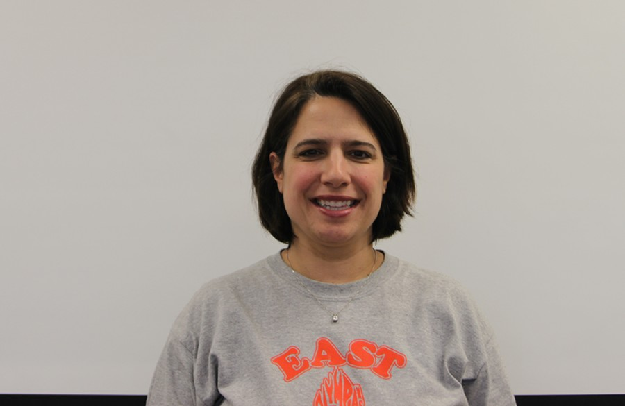 English teacher Abby Howe is pictured in her classroom.