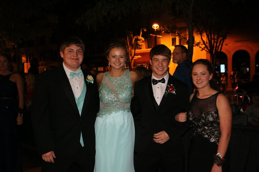 Juniors Ben Elsbury, Casey Weisner, Zach Springhorn and Maggie Lewis pose for a group photo.