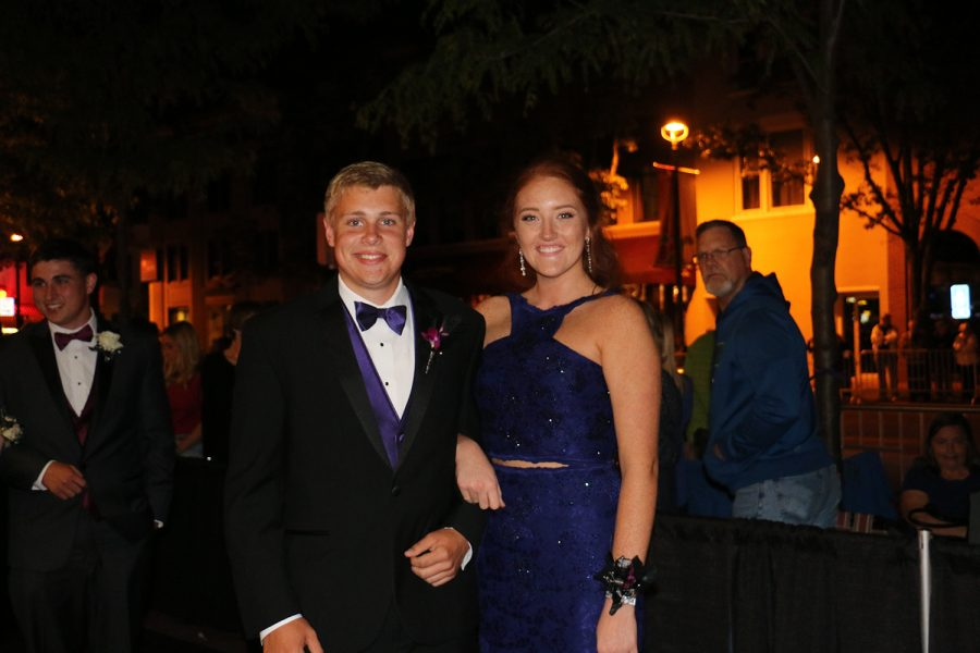 Juniors Thomas Ruch and Gracie Hatton smile before Prom.