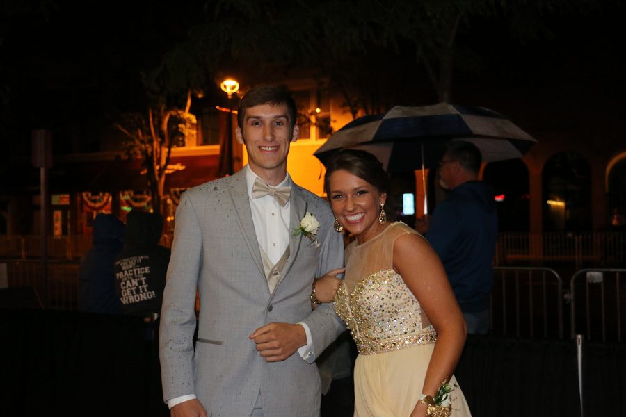 Junior Kennedi Satterfield poses with her date before prom.