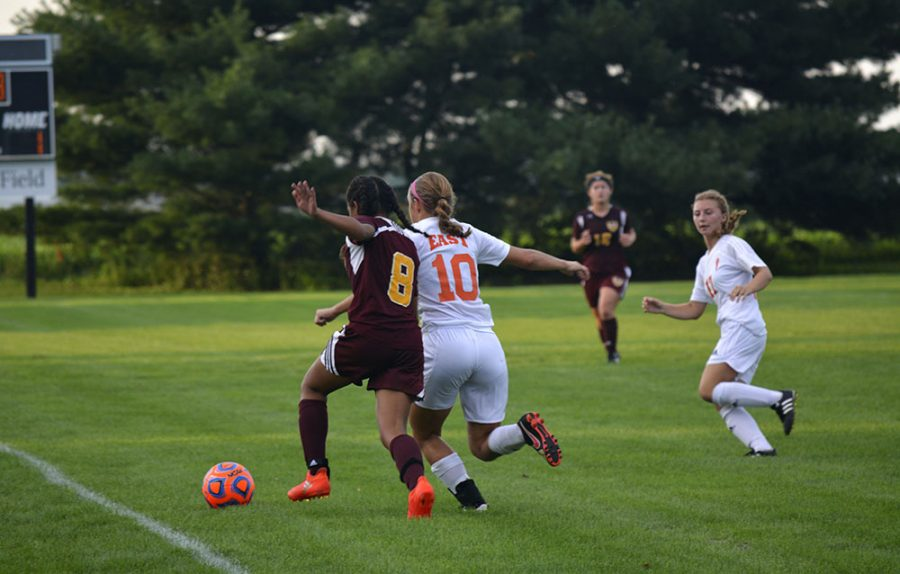 Senior defender Kayla Gastineau makes her presence known against the Cougars.