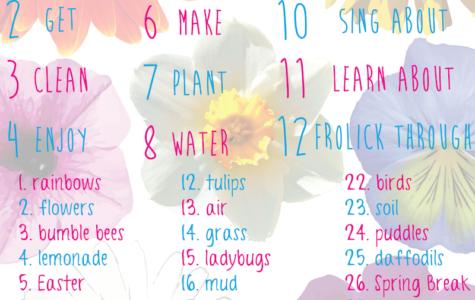 Spring bucket list based on your birthday