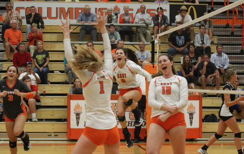 Photo Gallery: Girls Volleyball completes comeback against Columbus North