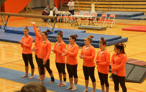 East Gymnastics tops cross town rival North