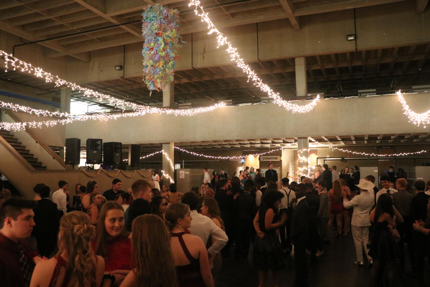 Students gather at East's Formal this past Saturday.