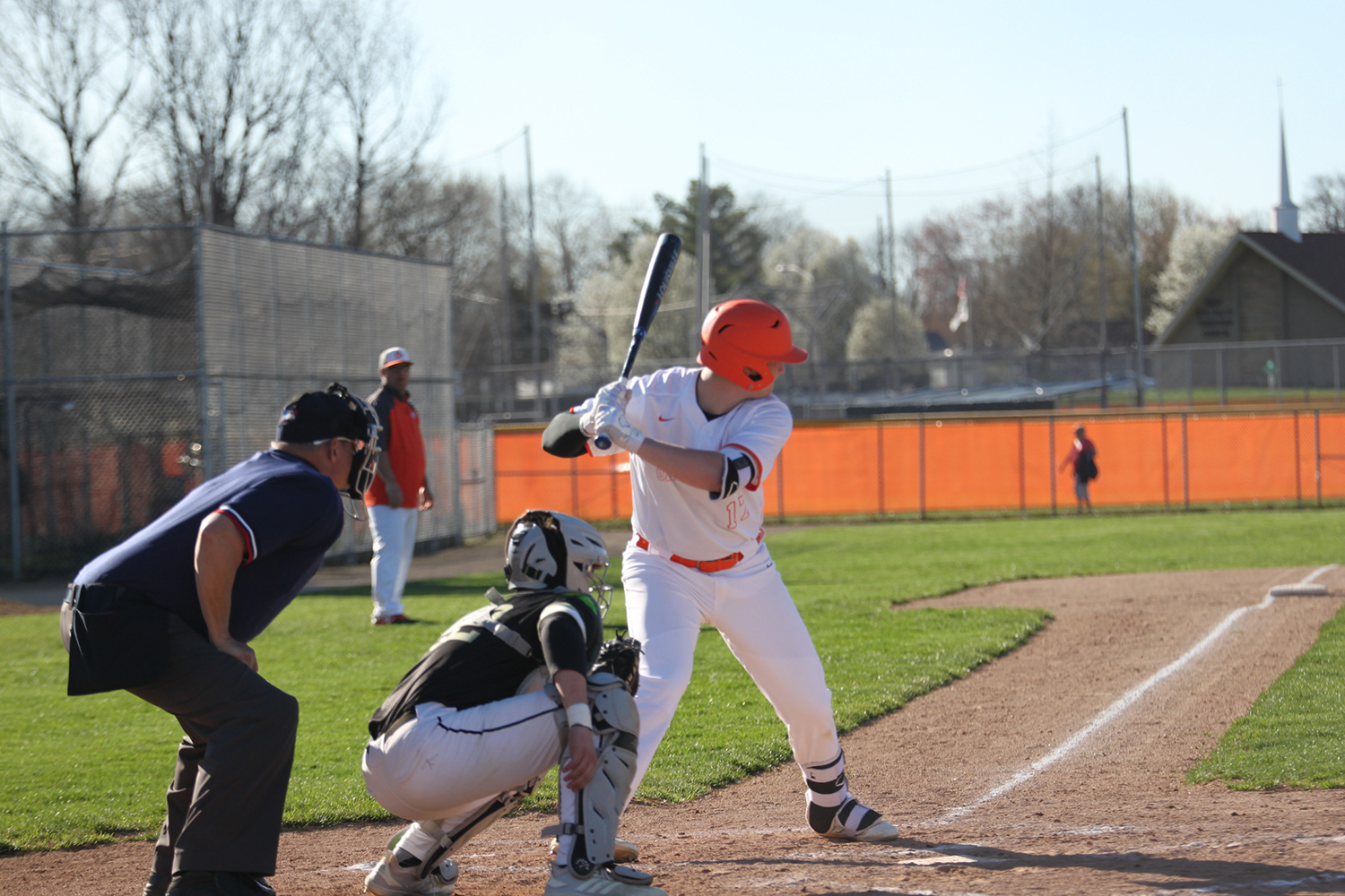 Senior Nash Murphy gets ready to to hit.