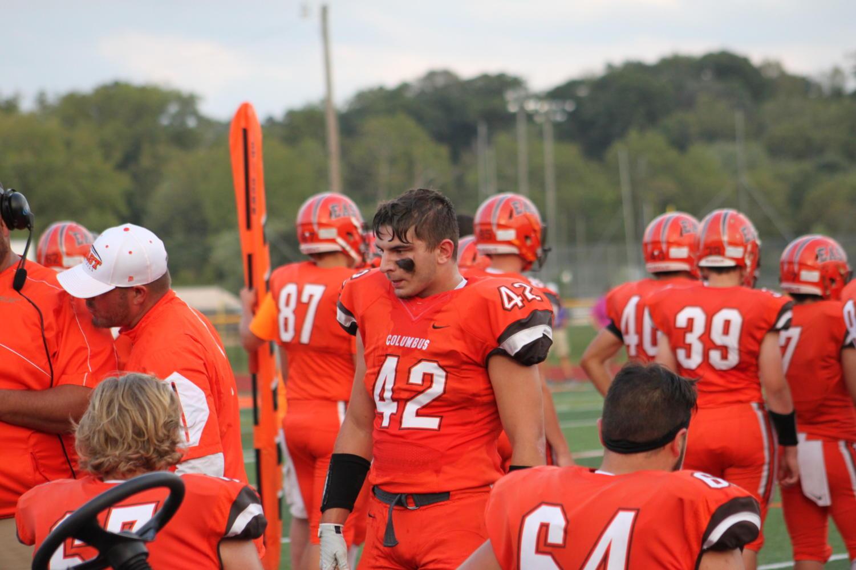 Junior+Xander+Brotzman+gets+the+defense+motivated.