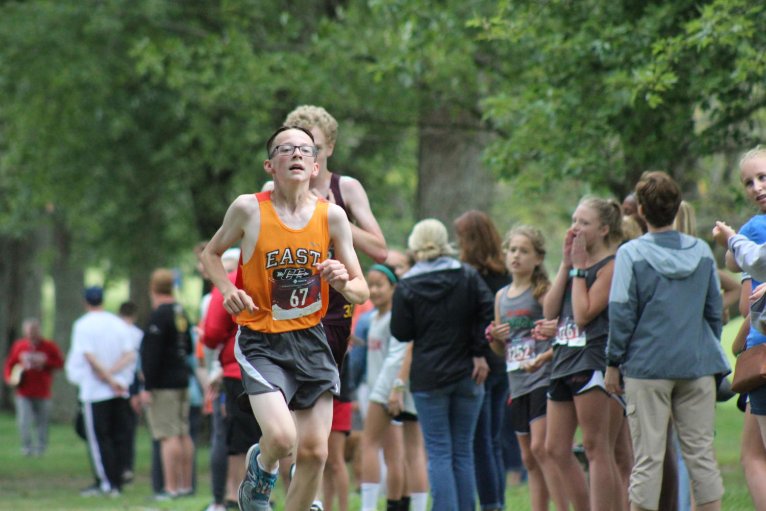Freshman+Cayden+Lynott+puts+in+his+last+efforts+to+finish+strong.