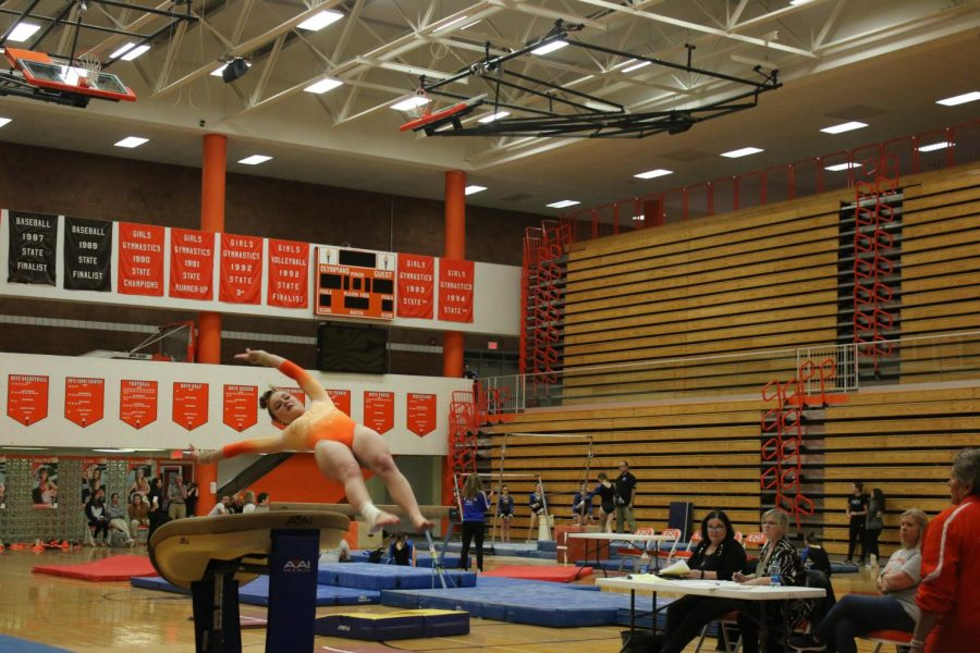 A Minor Flip: Gymnasts Lose to North