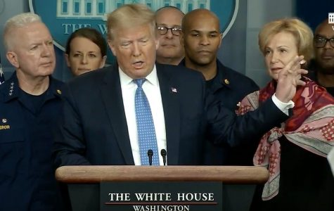 President Donald Trump speaks at a press conference on March 15.