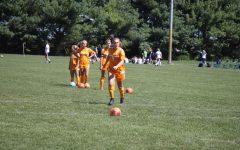 Senior Alana Dwenger shoots the ball.
