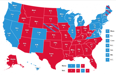 Predicted Electoral College Map by Aiden Nesci prior to the 2020 Presidential Election.